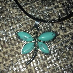 Turquoise Dragonfly Necklace NEW